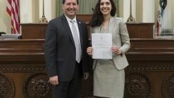 Assemblymember Grayson Administers the Oath of Office to Attorney Dana Lauren Shaker
