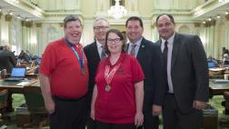 Assemblymember Grayson welcomes athletes from the Special Olympics