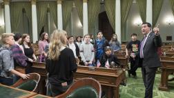 Assemblymember Grayson hosts Contra Costa Jewish Day School on the Assembly Floor